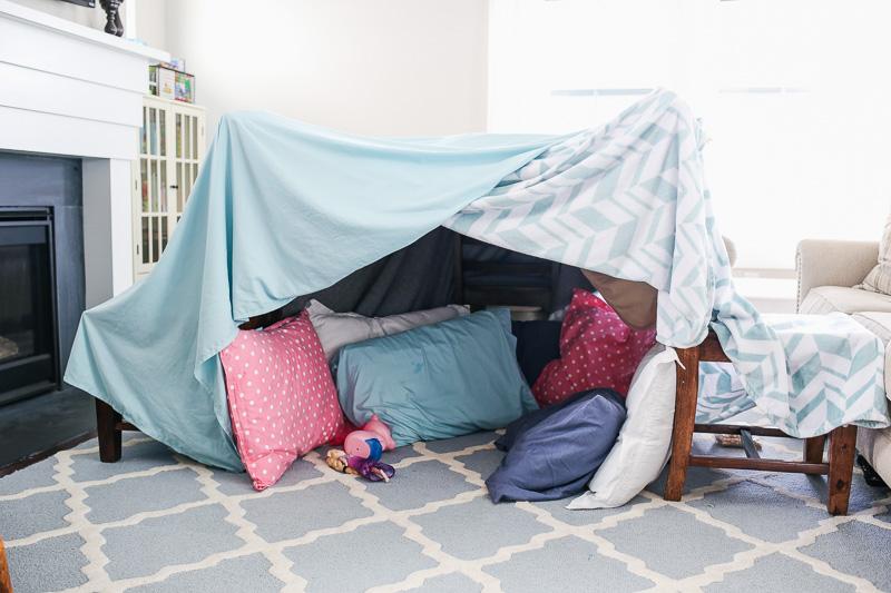 blanket fort for kids