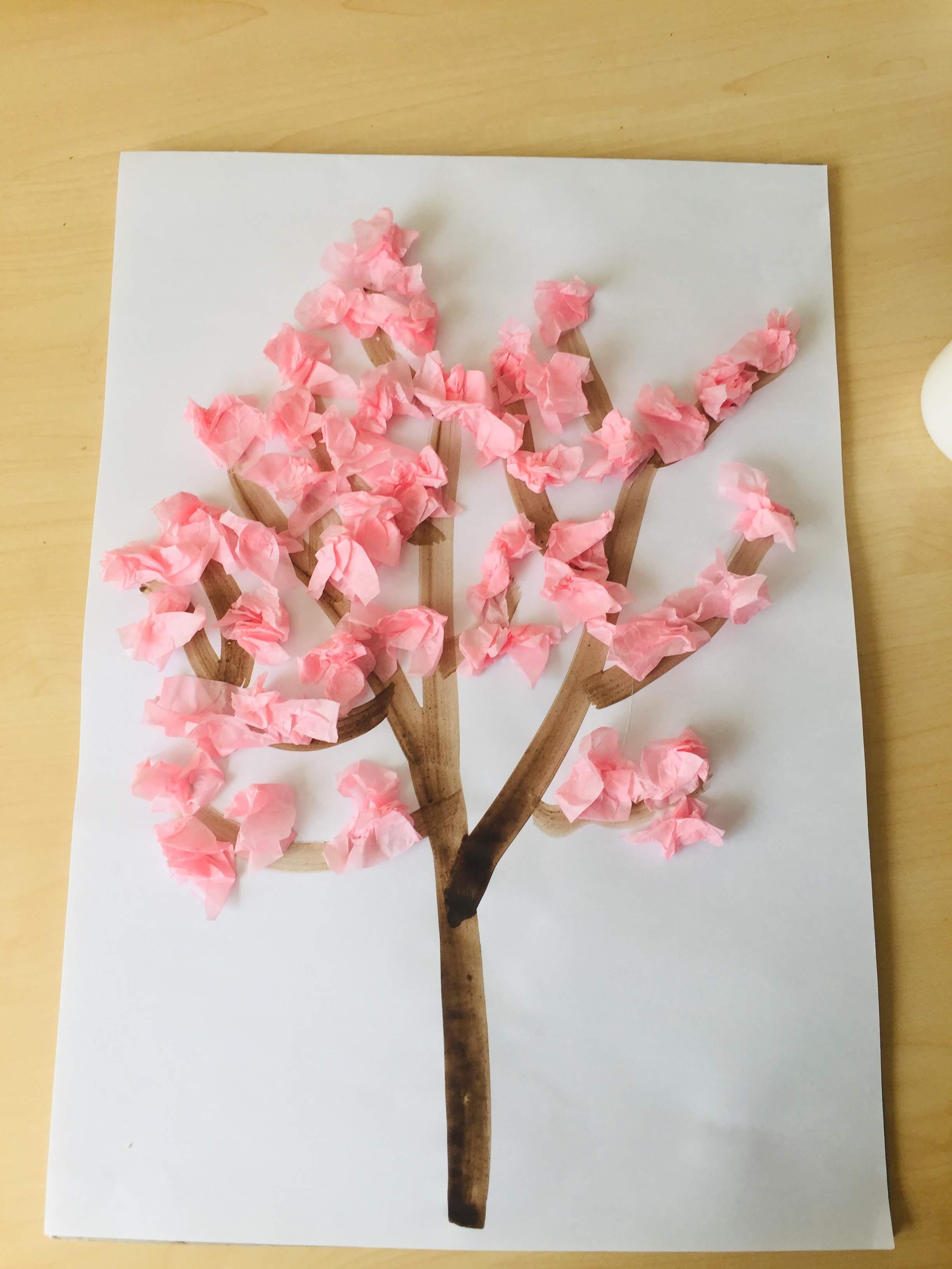 Cherry blossom craft